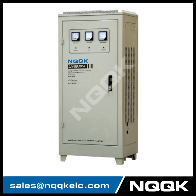 DJW-WB 20KVA / 30KVA Micro-controlled Non-contact Compensation 1Phase Series voltage regulator stabilizer