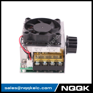 AC 220V 4000W SCR Electric Voltage Regulator Dimmer Temperature Motor Speed Controller With Fan