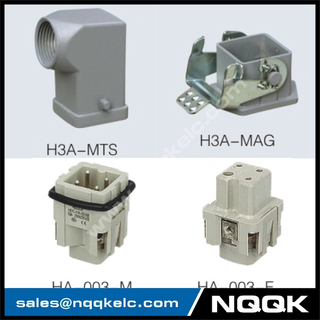 HA 3 , 4 , 5 Pin H3A-MTS H3A-MTG H3A-MAG Heavy Duty Connector