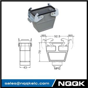 H16B 2 Hood Housing industrial heavy duty rectangle connector