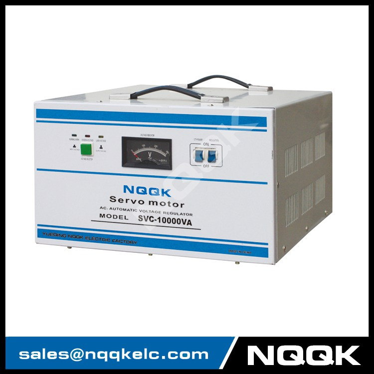 SVC 7.5KVA / 10KVA Servo Type 1Phase Series Voltage Regulator Voltage Stabilizer