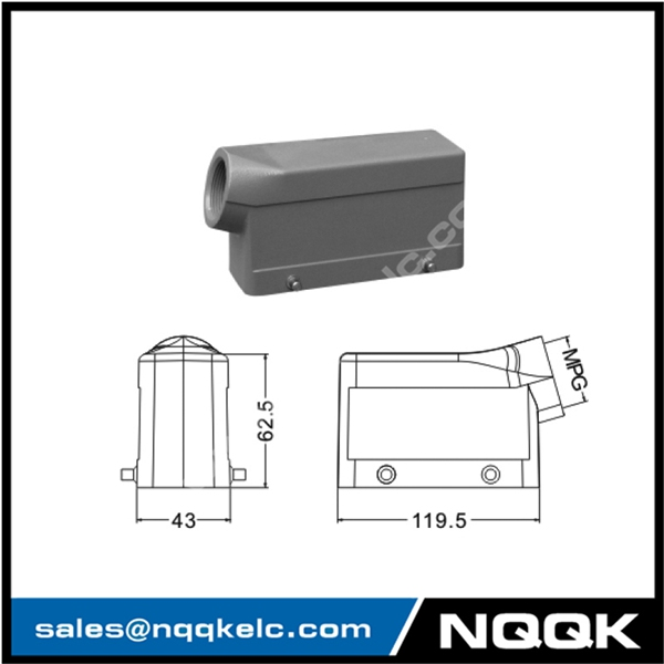 H24B Hood Housing industrial heavy duty rectangle connector