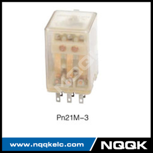 Pn21M-4 various relay LED test button PCB relay with 3Z contact operation form