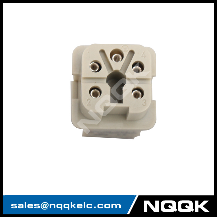 HA-004-F 4 pin Flame retardant female insert contacts heavy duty connector