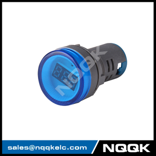 NK9994 Mini type 22 mm digital display LED Voltage indicator Indicator light lamp with AC Voltage Meter voltmeter