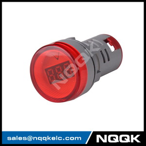 NK9992 Mini type 22 mm digital display LED Voltage indicator Indicator light lamp with AC Voltage Meter voltmeter