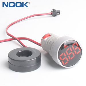 22mm 100A AC Red Yellow Blue Green White Single Phase LED Indicator Digital Current Ammeter Meter
