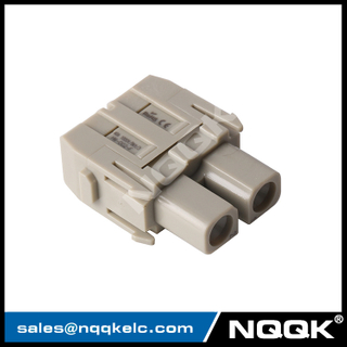 HM-002-F 2pin 2 hole 40A 1000V male Module Plugin insert heavy duty connector