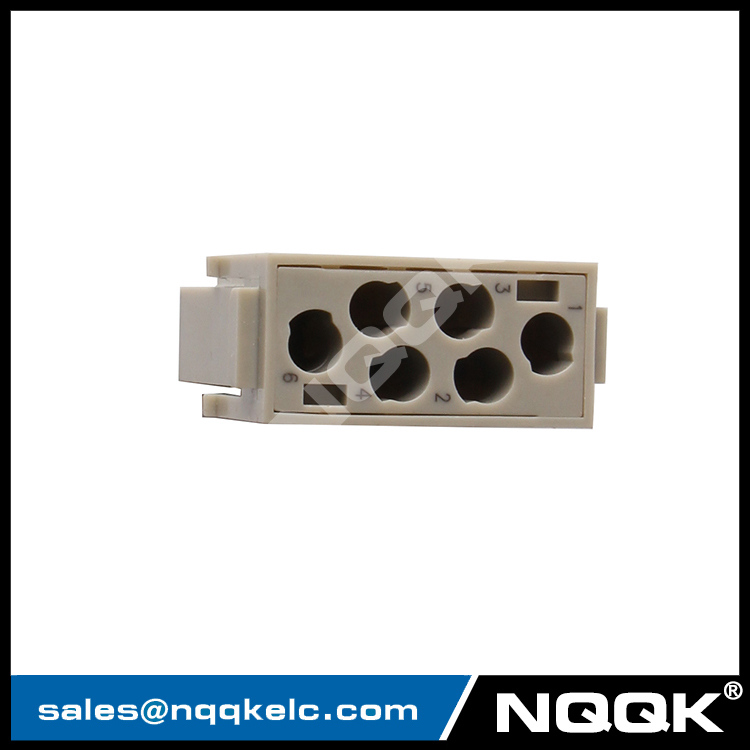 09140063001 HM-006-MC 6pin industrial male connector IP65 hinged framed connector